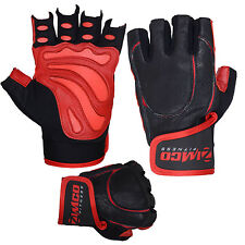 Zimco Pro Weight Lifting Gloves Fitness Mitts Genuine Leather Gloves