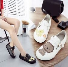 Women Fashion Cute Sweet Buckle Flats Slip on Loafers Candy Casual Comfort Shoes