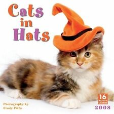 Cindy Pitts Cats in Hats 2007 Wall Calendar Brand New