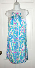 NWT LILLY PULITZER RESORT WHITE LONG STORY IONA SHIFT M $198