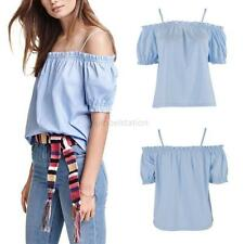 Women's Sexy Off Shoulder Vest Tank Summer Blouse Lady Casual Tops Loose T Shirt
