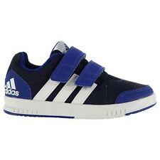 adidas Kids LK Trainer 7 Trainers Boys Flat Sole Ortholite Velcro Casual Shoes