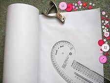 Dressmaking Plain White Pattern Cutting Paper 122 wide FREE P&P Any Length!