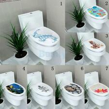 DIY Toilet Seat Wall Sticker Home Vinyl Art PVC Washroom Sticker Bathroom Decals