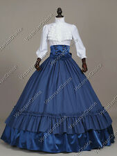 Victorian Old West Civil War 3-PC Plaid Dress Gown Theater Period Clothing K001