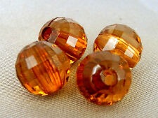 10mm 30/60/100/200/300pcs FACETED SIENNA ACRYLIC PLASTIC ROUND LOOSE BEAD TY2288