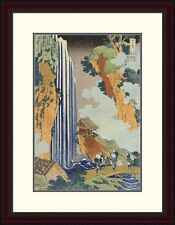 'Ono Waterfall, The Kiso Highway' by Hokusai Framed Painting Print