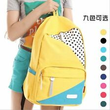 New hot Fashion women's Rucksack Canvas School Campus Book Backpack Shoulder Bag
