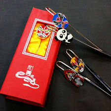 Peking Opera mask metal bookmarks Chinese culture gift souvenir birthday present
