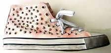 ZARA Womens PINK Studded Sneakers Casual Ankle Boot HI TOPS Shoes £59.99