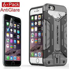 [Extreme Protection]Tough Armor Case,6xAnti-Fingerprint Films Apple iPhone 6 6S