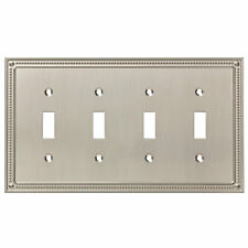 Franklin Brass Classic Beaded Quad Switch Wall Plate