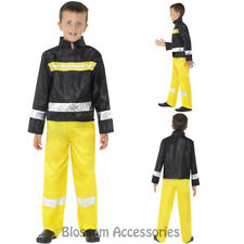 CK829 Fire Fighter Fireman Child Kids Boy Book Week Fancy Dress Party Costume