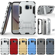 For Samsung Galaxy S7/S7 Edge Hybrid Hard Armor Shockproof Case Stand Cover