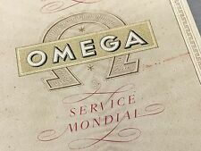 VERY RARE 1955 OMEGA CHRONOGRAPH WARRANTY BOOKLET - LEMANS FRANCE - BUY IT NOW!