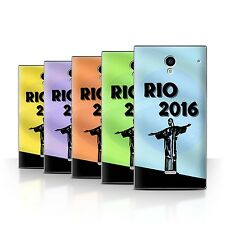 STUFF4 Back Case/Cover/Skin for Sharp Aquos Crystal/306SH/Rio Olympic