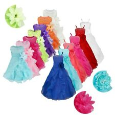 Flower Girl Dress Princess Pageant Wedding Birthday Party Bridesmaid Dresses New