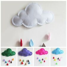 1Pcs Lovely Cloud Raindrop Bedroom Wall Stickers Photography Props Home Decor