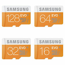 Samsung Micro SD SDXC TF Memory Card EVO Class 10 UHS-1, 16 / 64 / 128 GB lot