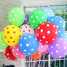 10/20pcs Latex POLKA DOT Quality Party Birthday Wedding Balloons baloons 12""