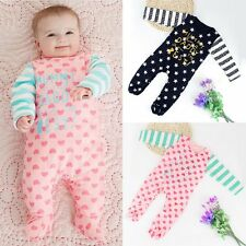 Newborn Kids Baby Girl Boy Feet Wrapped Romper Jumpsuit Bodysuit Clothes Outfits