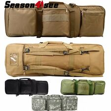 4 Colors Airsoft Hunting 85CM Tactical Dual Rifle Bag with Shoulder Strap New