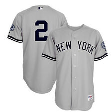 2014 Derek Jeter Authentic NY Yankees Road Retirement Jersey w/ Captain Patch