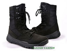 Casual Suede Breathable High Top Tactical Outdoor Camping Hiking Boots 37~45