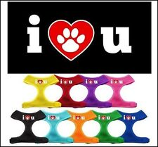 Any Size - Mirage - MADE IN USA - Dog Soft Mesh Harness - I Love U - CLEARANCE