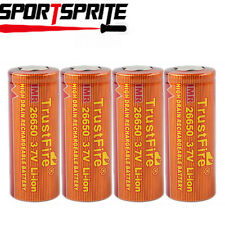 1/2/4pcs TrustFire IMR26650 3.7V 3400mAh Rechargeable Li-ion Battery Cell