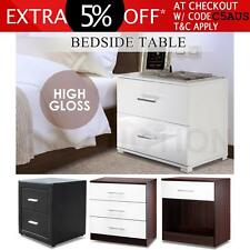 High Gloss Bedside Table Cabinet Chest Drawer Storage Lamp Night Stand