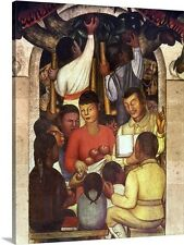 Rivera: Education, 1926 by Diego Rivera Painting Print on Canvas