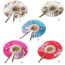 Fantastic Silk/Bamboo Hand Fan Various Colors Available Japanese Windmill Fan