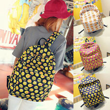 Boys Girls Funny Smiley Emoji Backpack Satchel Shoulders Bag Schoolbag Bookbag
