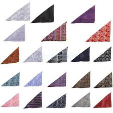 Men's Peiris Pattern Pocket Square Hankie Hanky Wedding Party Handkerchief