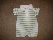 Baby Calvin Klein Polo Striped One Piece Size 0-3 Months