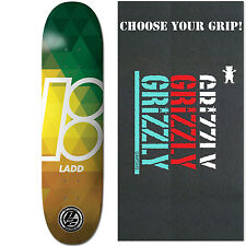 """PLAN B Skateboard Deck LADD PRISM 8.25"""" P2 with GRIZZLY GRIPTAPE"""
