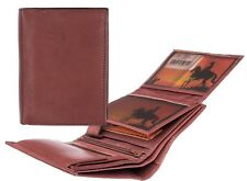Mens NEW Luxury Soft Brown Leather Wallet by Ranger Mens Leather Wallet