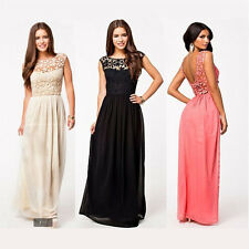 2015Sexy Formal Long Lace Women Prom Evening Party Bridesmaid Wedding Maxi Dress