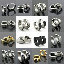 Fashion Hot  Men Women Unisex Punk Stainless Steel Hoop Stud Earrings Ear Gothic