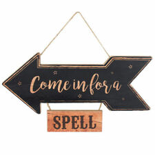 Come In For A Spell Witches Halloween Party Directional Sign Wall Hanging Plaque
