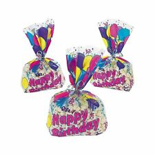 12-96 Birthday Balloon Wedding Party Sweets Candy Cellophane Gift Goody Bags