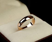 unisex 18K Rose Gold GP 5mm bands Ring mens lady wedding engagement ring  R39a