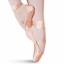 NEW Capezio Contempora Pink Pointe Toe Pointe Shoes #176 + Ribbons