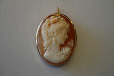VINTAGE CAMEO PIN/PENDENT SET IN 18KT YELLOW GOLD 8.1 G TOTAL
