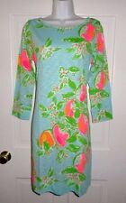 NWT LILLY PULITZER POOL BLUE PINK LEMONADE MARLOWE DRESS M L XL