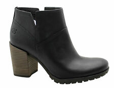 Timberland Swazey Ankle Heel Womens Boots Black Leather Suede Zip Up A14KM U16