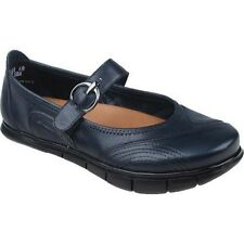 WOMEN'S Earth Shoe Rally Navy Blue Mooshie Calf Mary Jane Slip on