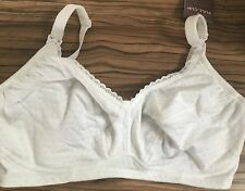 Brand New Marks & Spencer Maternity Nursing White Cotton Bra Size 32G BNWT