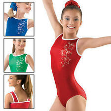 NEW Kelly Green or Blue Foil Metallic Star Sparkle Gymnastics Leotard Adult Szs